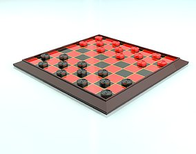 Checkers Board Game 3D Print Ready