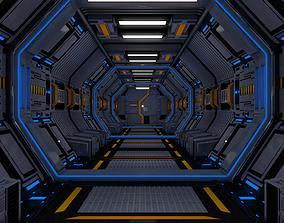 future Sci Fi Corridor 3D