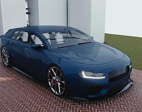 BLENDER EEVEE Brandless Small 4 door hatchback 3D asset