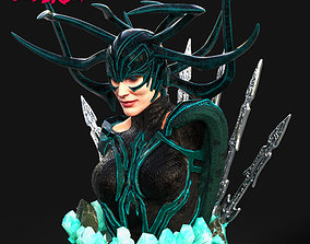 3D printable model Wicked Marvel Hela Bust STLs ready for