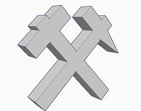 3D printable model FC Shakhtar Hammers logo