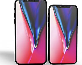 3D asset Iphone 11 and 11 plus Model