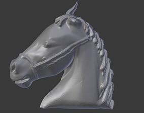 Horse Head Relief 3D Print Ready Model