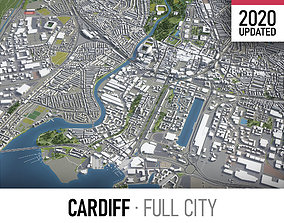 3D asset Cardiff - city and surroundings