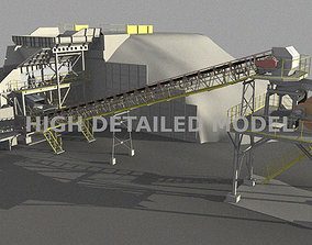 3D model Mining plant for presentations and