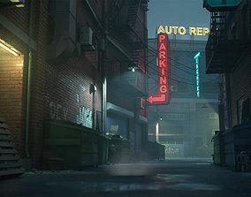 3D asset Downtown Alley