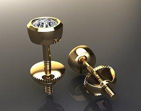 3D printable model BEZEL BASKET 3MM EARRING