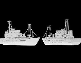 3D print model fishing vessel