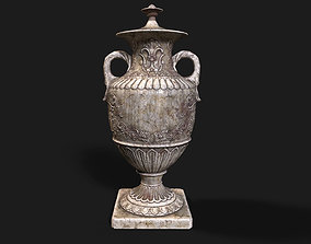 French Baroque Classical Style Urn Vase 3D asset
