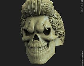 hairs 3D printable model Skull bearded vol4 ring