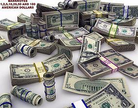 MoneyPack - American Dollars 3D asset