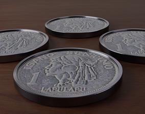 3D Philippines 3d One Centavos coin yen