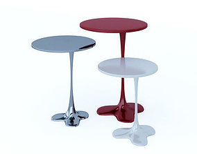 Fluid table painted table contemporary liquid 3D model 1