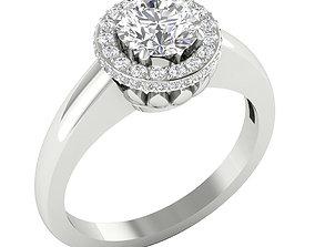 diamond-ring 3D print model engagement ring