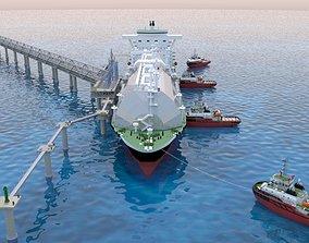Berthing of the Tanker Ship 3D
