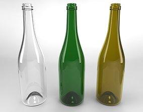 WINE BOTTLE 3D model beverage