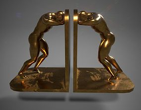 3D Bronze bookends Pose03