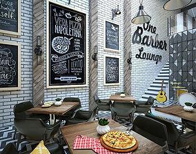 3D cafe Barber Restaurant