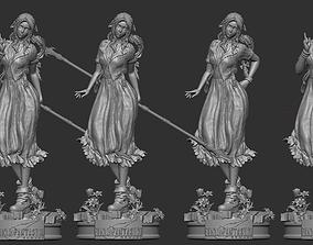 Aerith Gainsborough Final Fantasy VII 3D print model 2