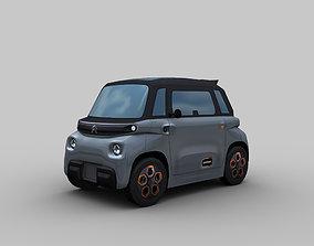 auto Electric Car 3D asset low-poly