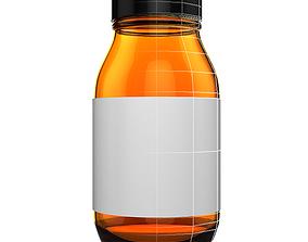 3D Drug Vitamin Supplement Bottle