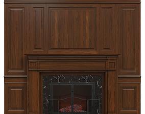 Classic fireplace 01 3D model