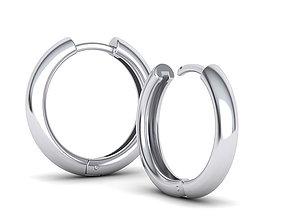 hollowed-earrings 20mm Hoop Earrings printable 3dmodel