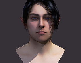 realtime Male Hairstyle Short01 Low Poly Game Ready Model