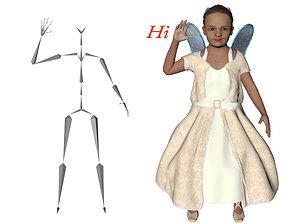 Angel Kid 3D model