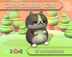 Cute Chubby Cat 3D model