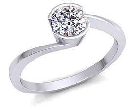 Solitaire Woman Ring 3D print model