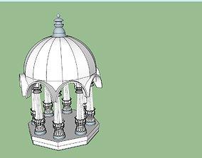 indian jodhpuri stone chatri 3d modal old