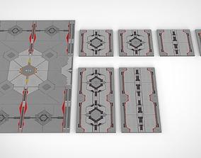 3D sci-fi Architectural element 14