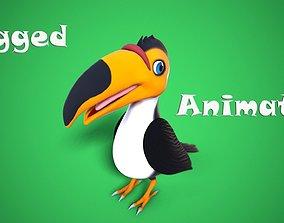 3D asset cartoon toucan