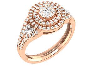 diamond-ring 3D printable model Ring - 128767