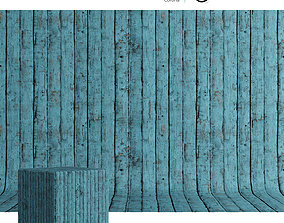 3D model Wood material Painted boards 01