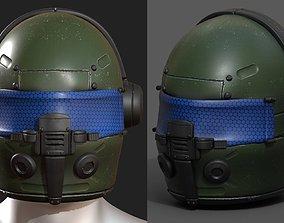 Helmet scifi fantasy futuristic military combat 3D asset
