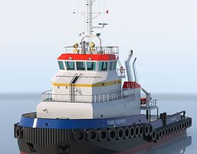 3D model Shoalbuster Tug DMS Osprey textured