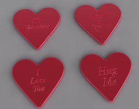 Heart Word Coasters 3D printable model