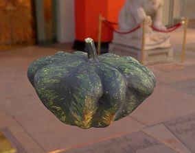 3D asset decoration pumpkin green orange