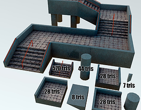 3D model Stair and passages Asset