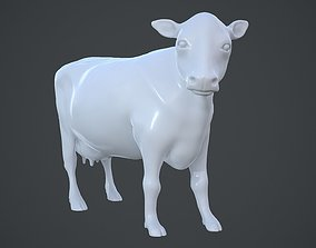 Realistic cow 3D printable model