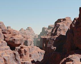 3D asset Desert Cliffs pack Vol2
