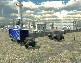 animated MilitaryBase 3d project