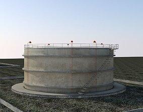 3D model oil storage tank
