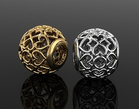 3D printable model gold Bead charm