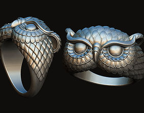 Owl Ring jewelry 3D printable model