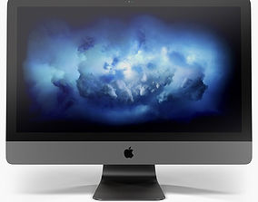 Apple iMac Pro 18-core Retina 5K 27inch Display 3D asset