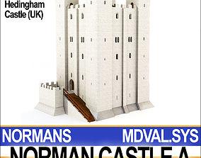 3D Medieval Norman Castle A Hedingham UK