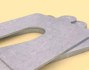 Size A Slotted Shims 3D model